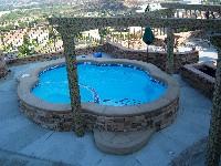Mpspages Crystal Beach Fiberglass Pool And Spa 01 San Juan Pools Lazy Days Pools And Spas