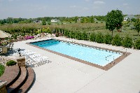 Oceanside Fiberglass Pool in Tylerton, MD