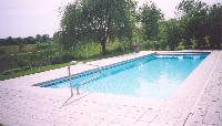 Oceanside Fiberglass Pool in Weems, VA
