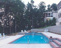 Oceanside Fiberglass Pool in Barhamsville, VA
